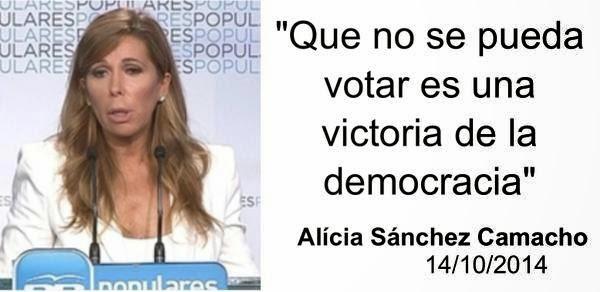 alicia sanchez camacho la camarga votar no es democracia 14 oct 2014